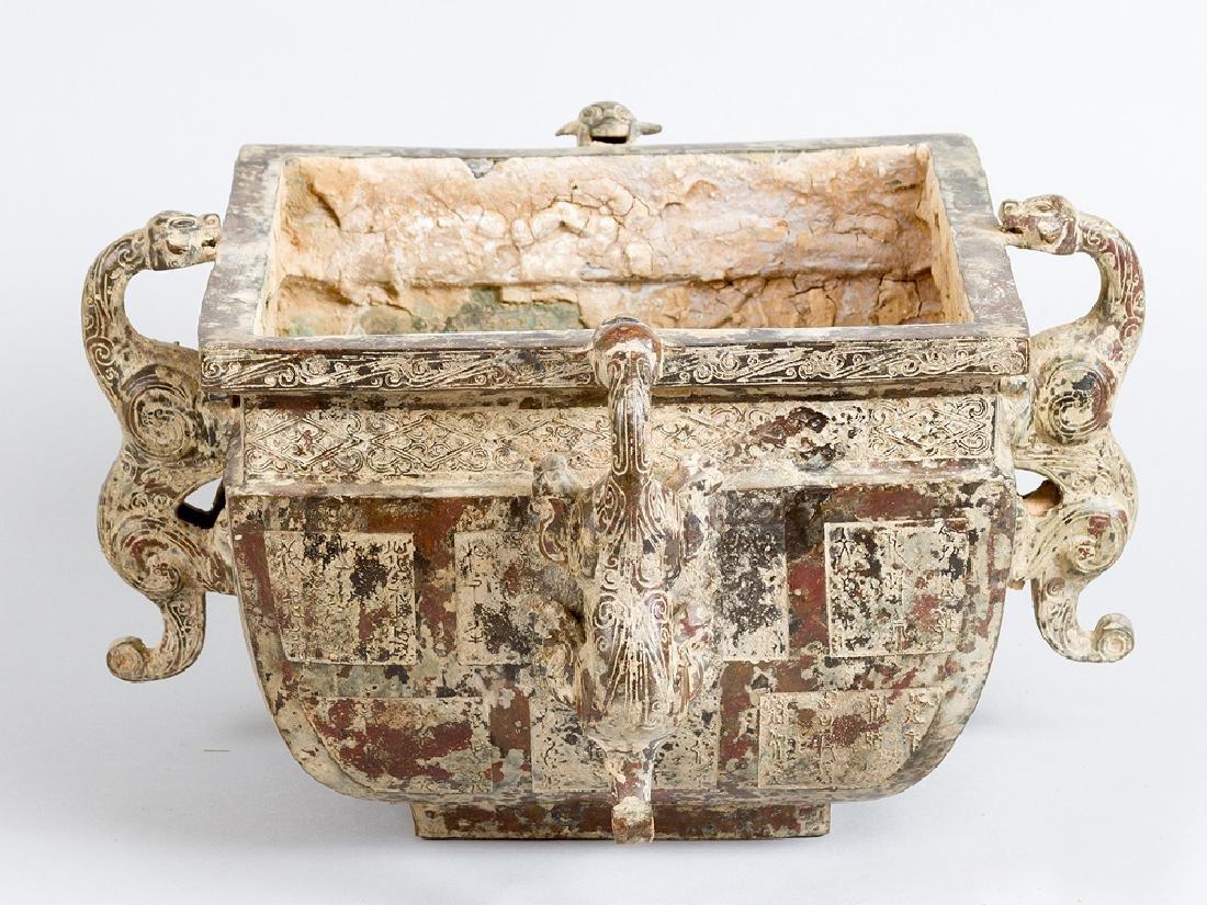 Archaic Chinese bronze bowl
