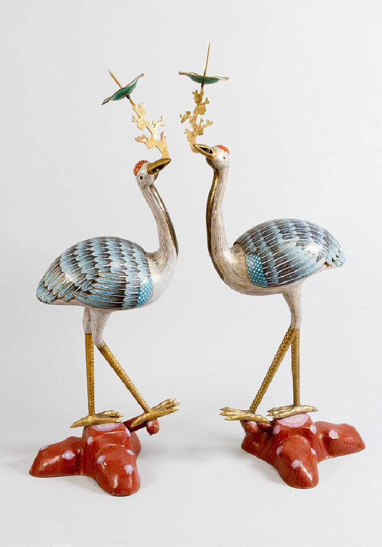 Pair of imperial cranes