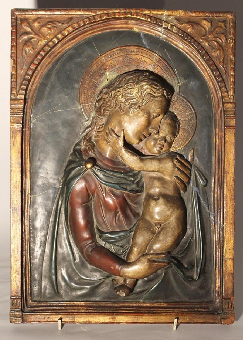 Tuscan stucco plaque