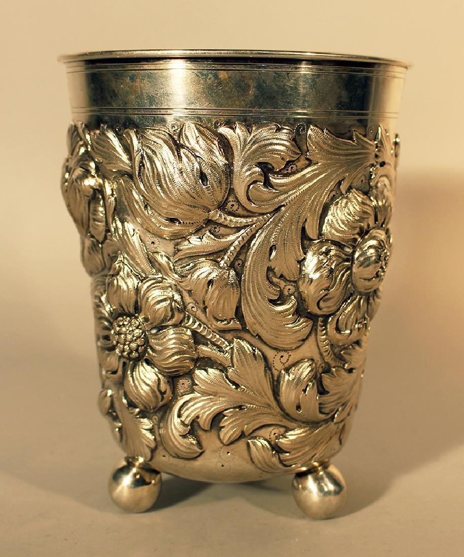 German large silver baker