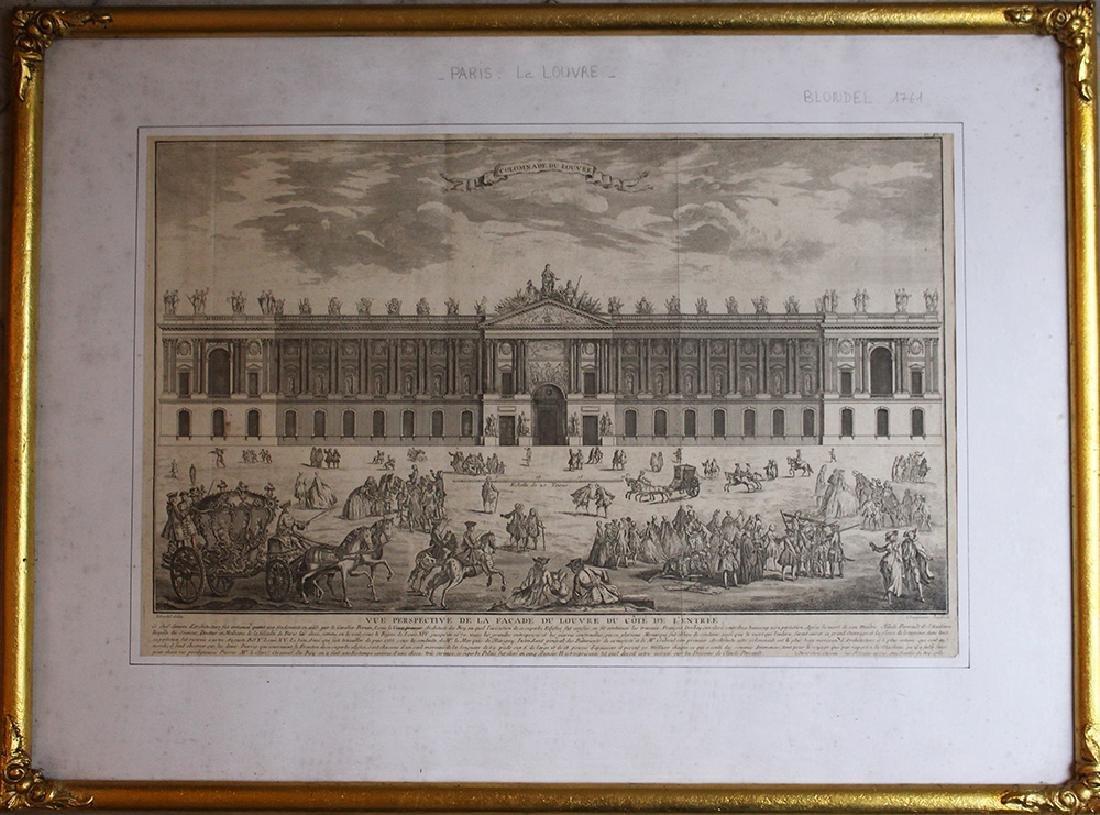 Colomnade du Louvre, copper print