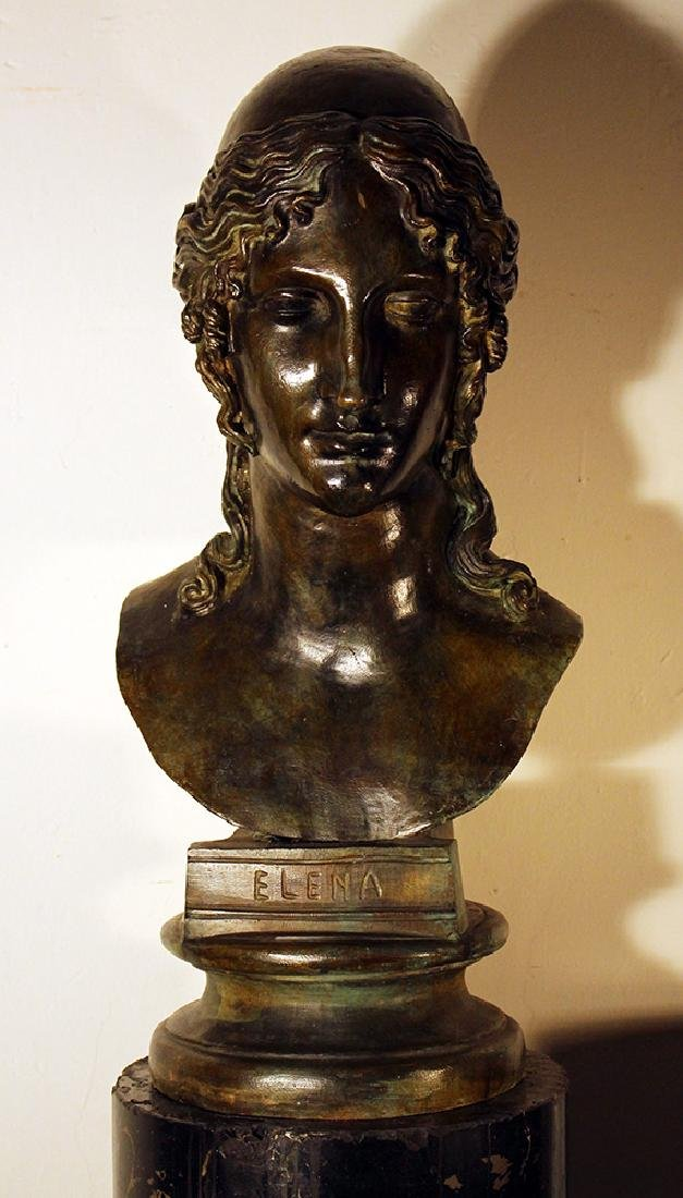 Large bronze bust