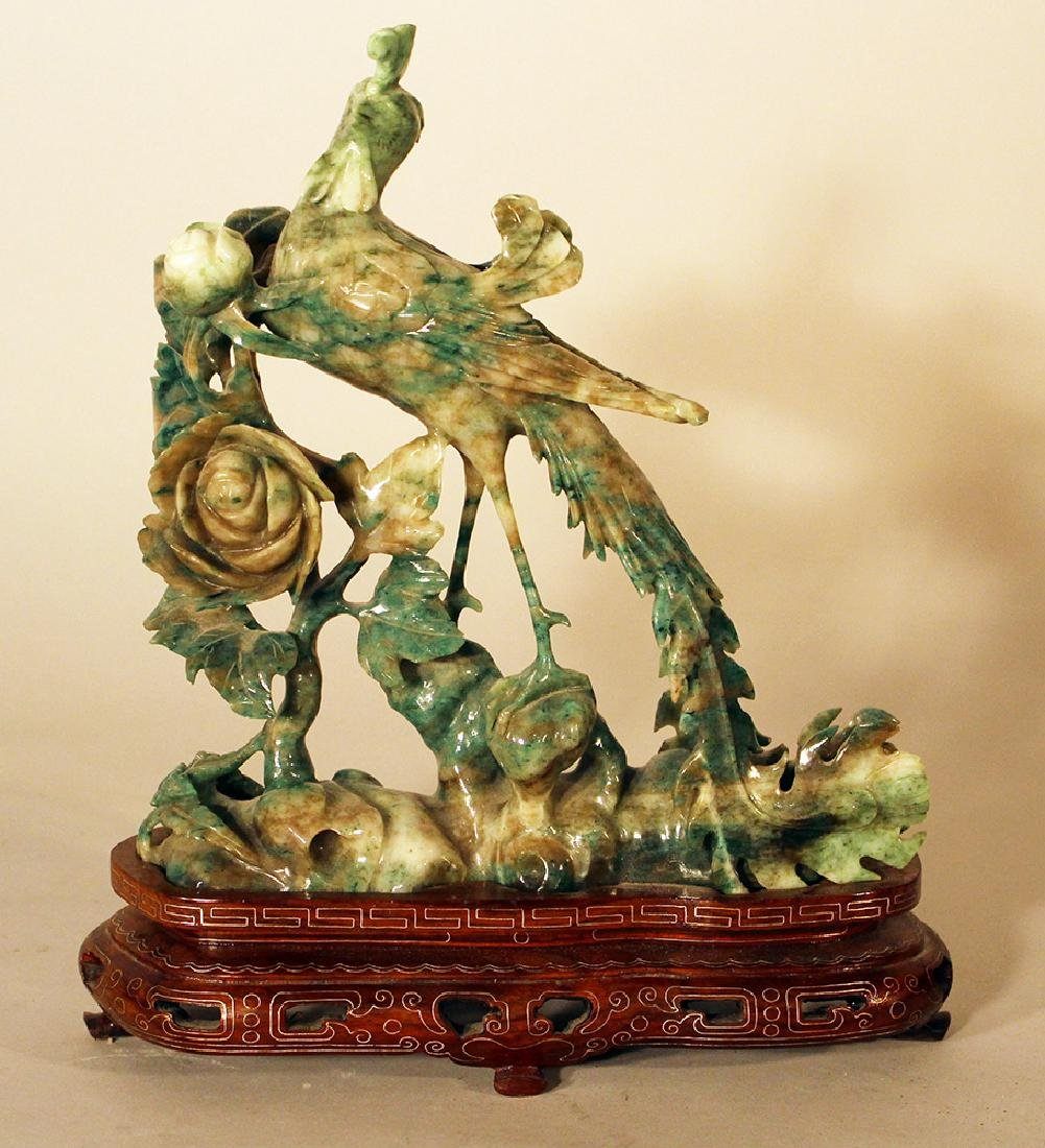 Chinese jade bird sculpture