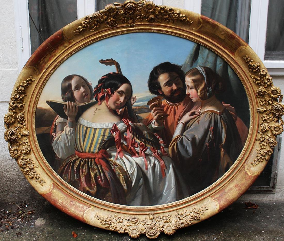 Eugene Francois Marie Joseph Deveria (1808-1865)-circle