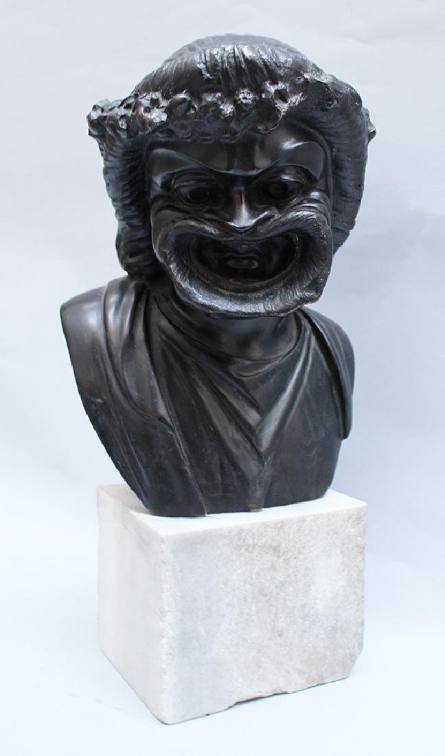 Allegorical bronze bust