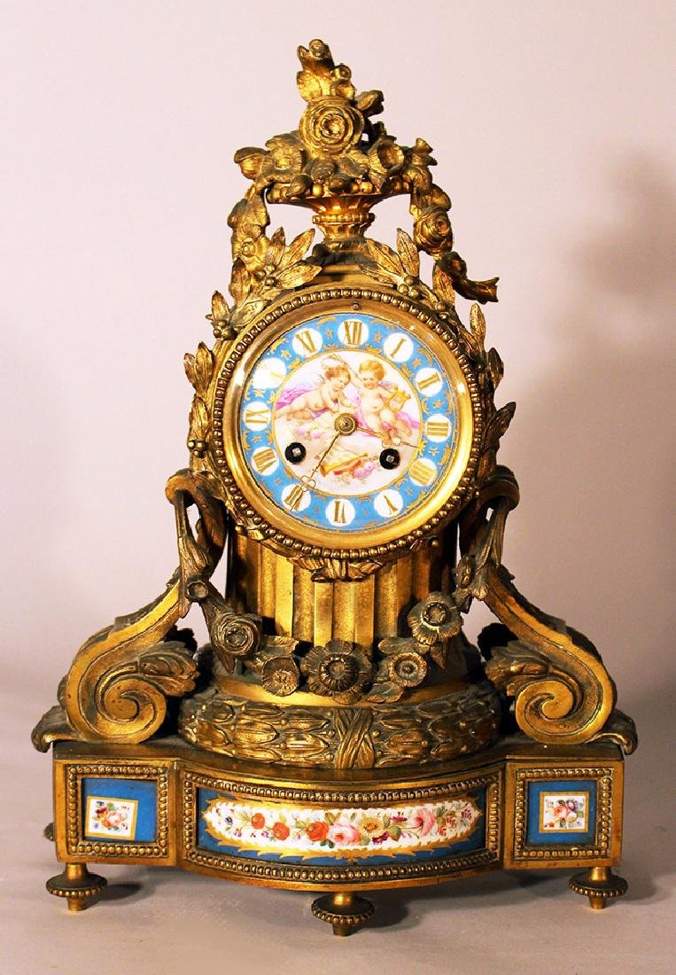 A French chimney clock
