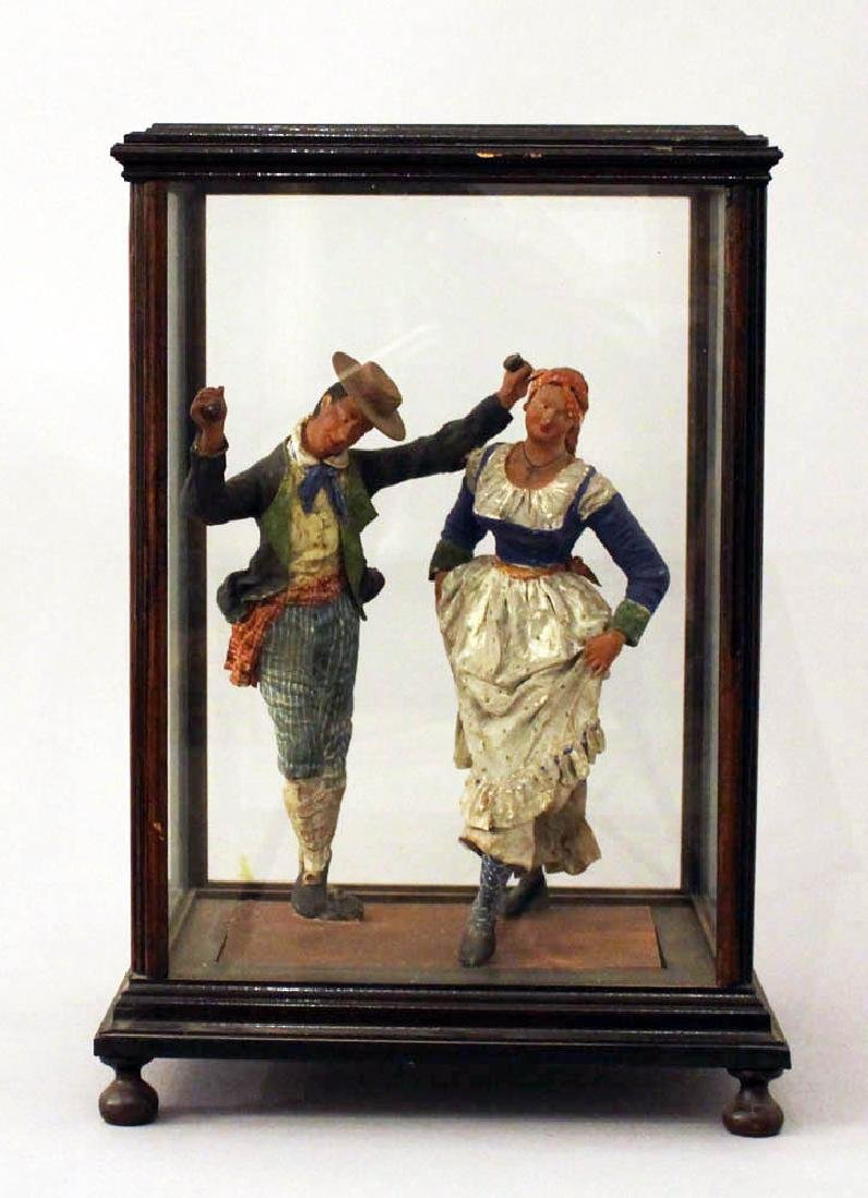 Sculpture of a Tarantella dancing couple