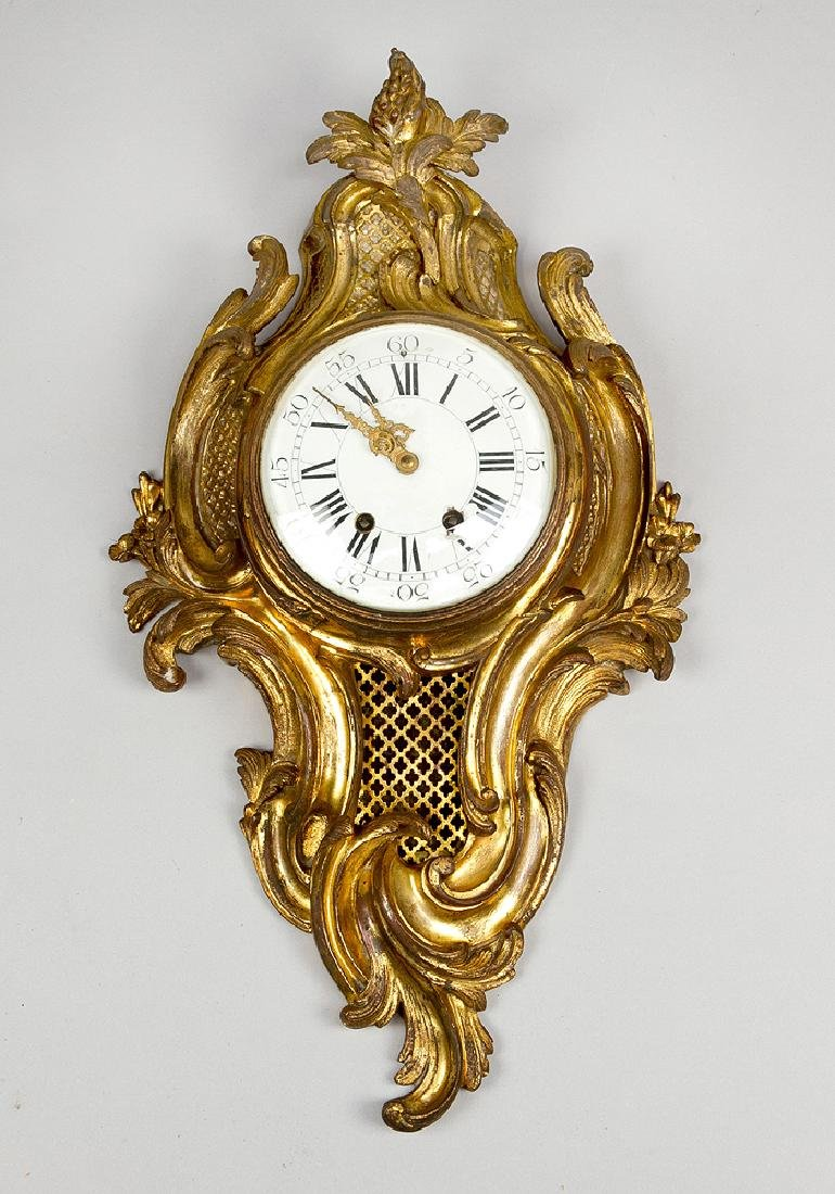 A French Louis XV style cartel clock