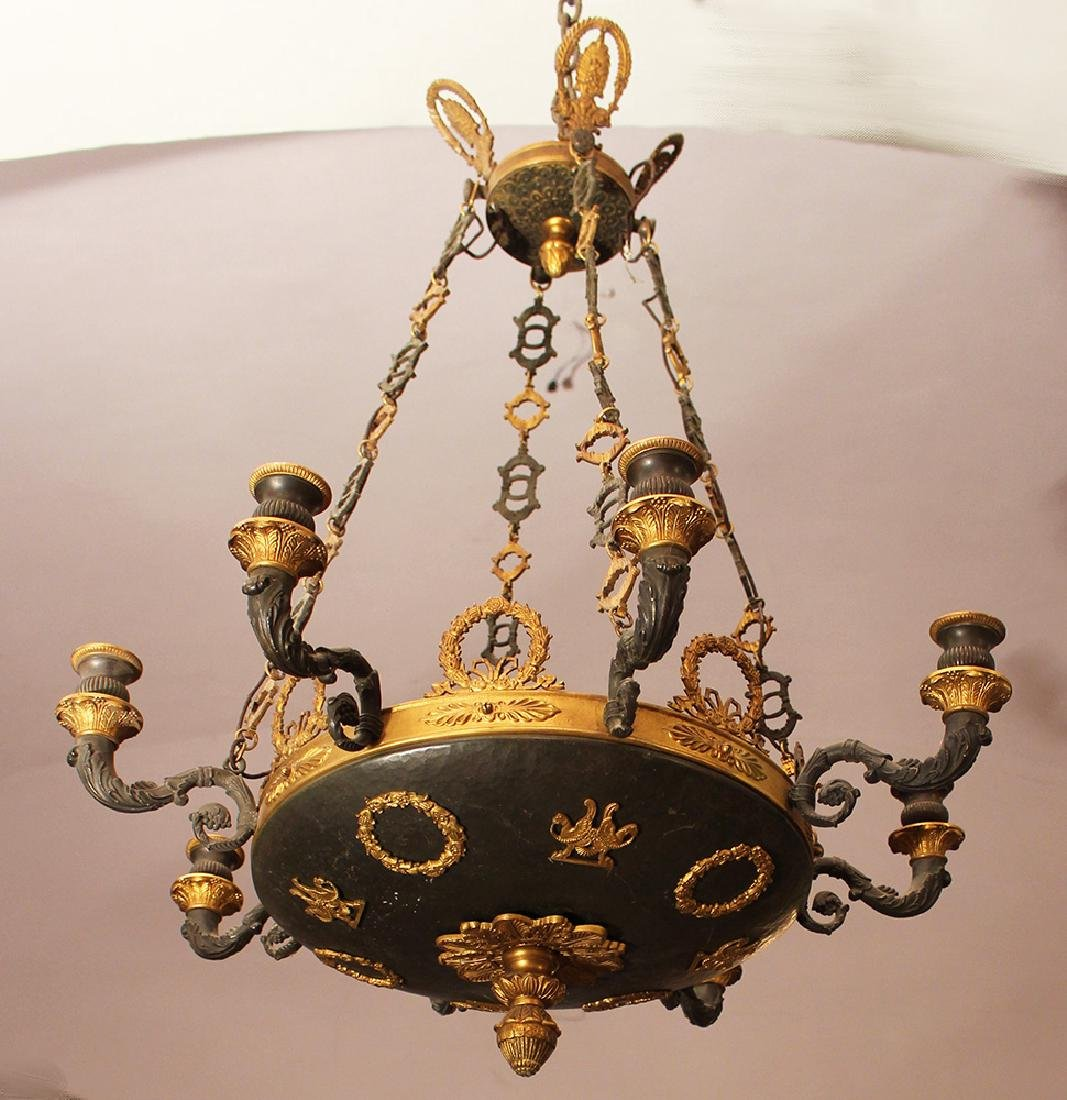 An Empire chandelier