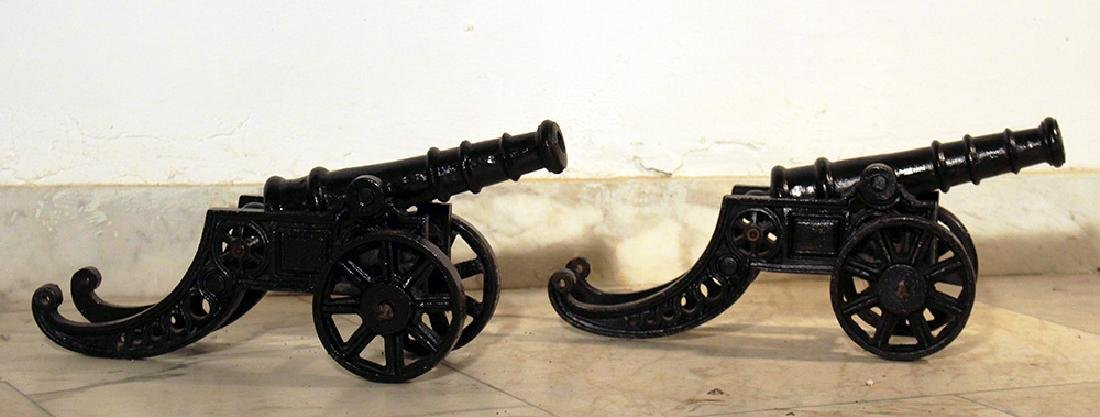 Two small miniature infantry cannons