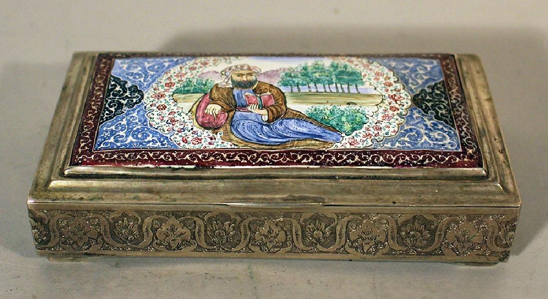 A Persian silver box