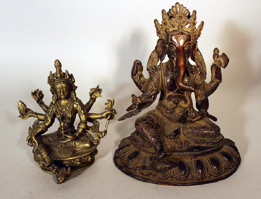 Two Indochinese bronze sculptures