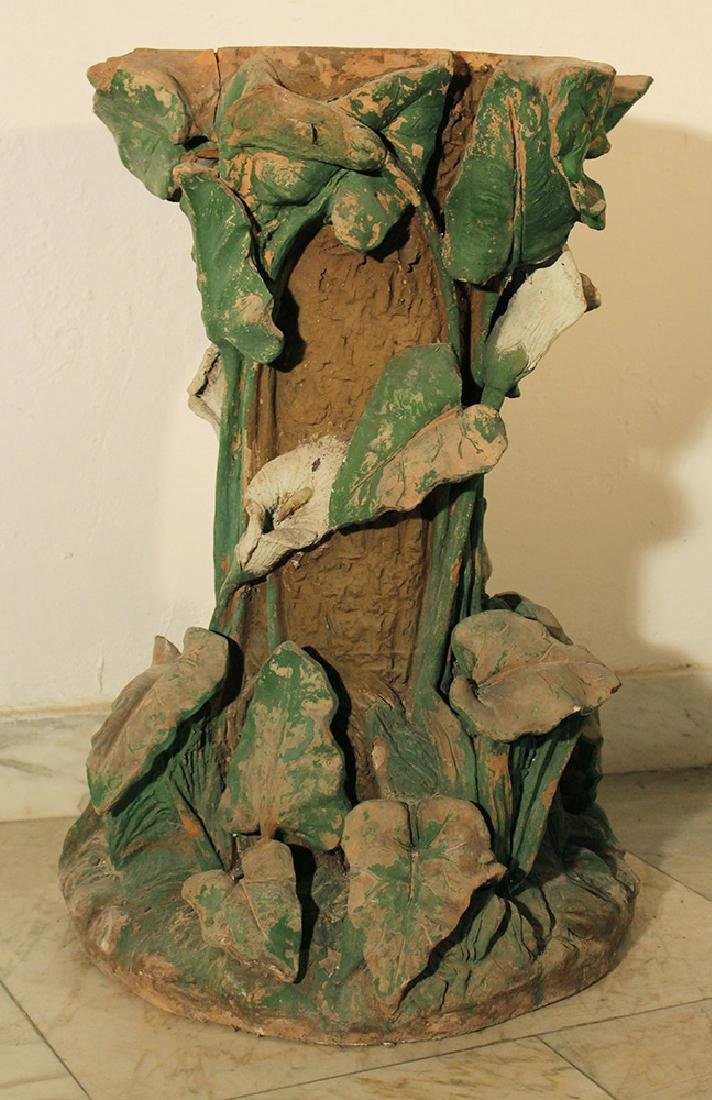 Art Nouveau terracotta column