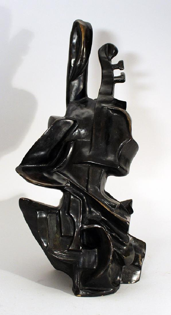 Cubistic bronze sculpture