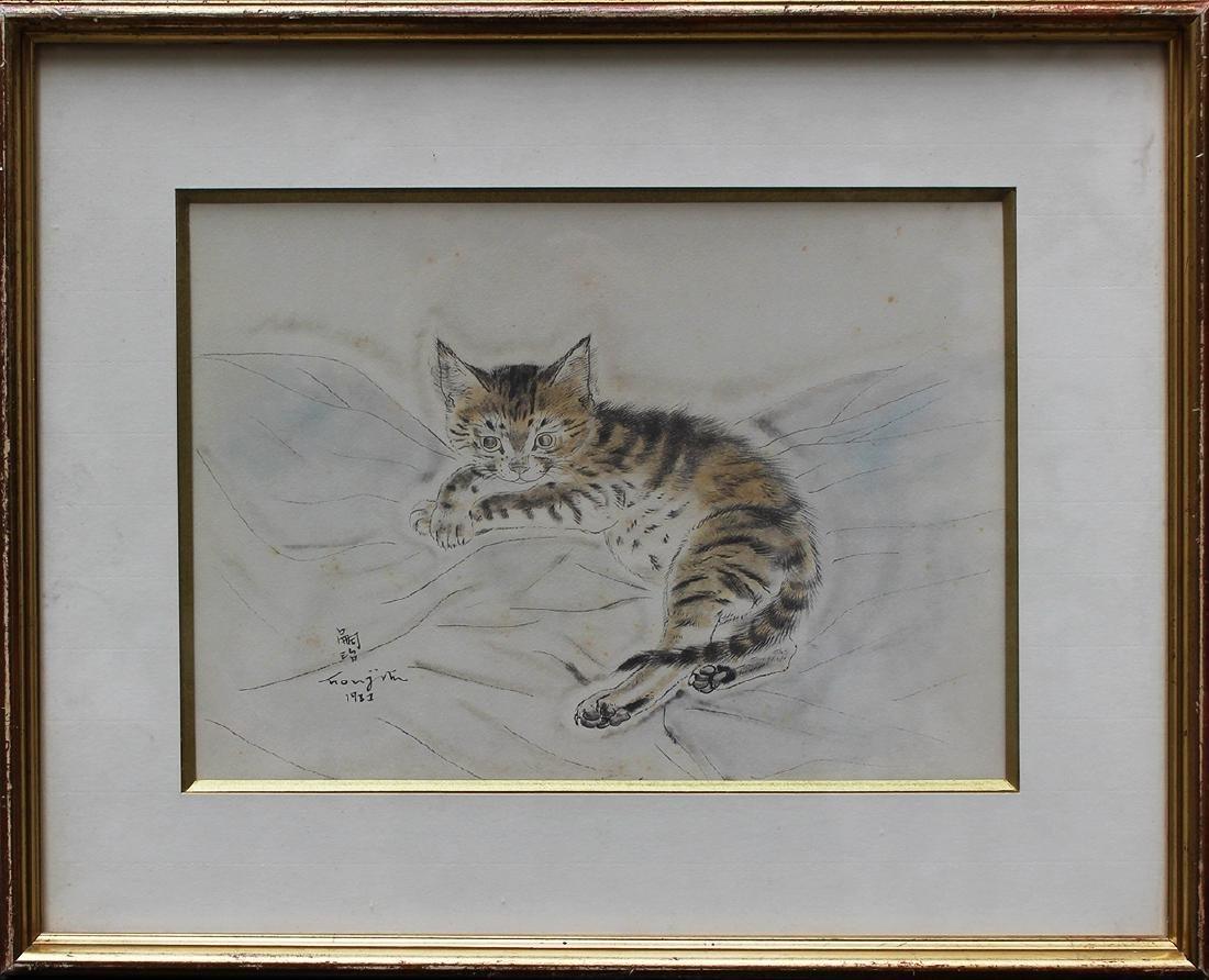 Tsuguharu-Léonard Foujita (1886-1968)-colour etching