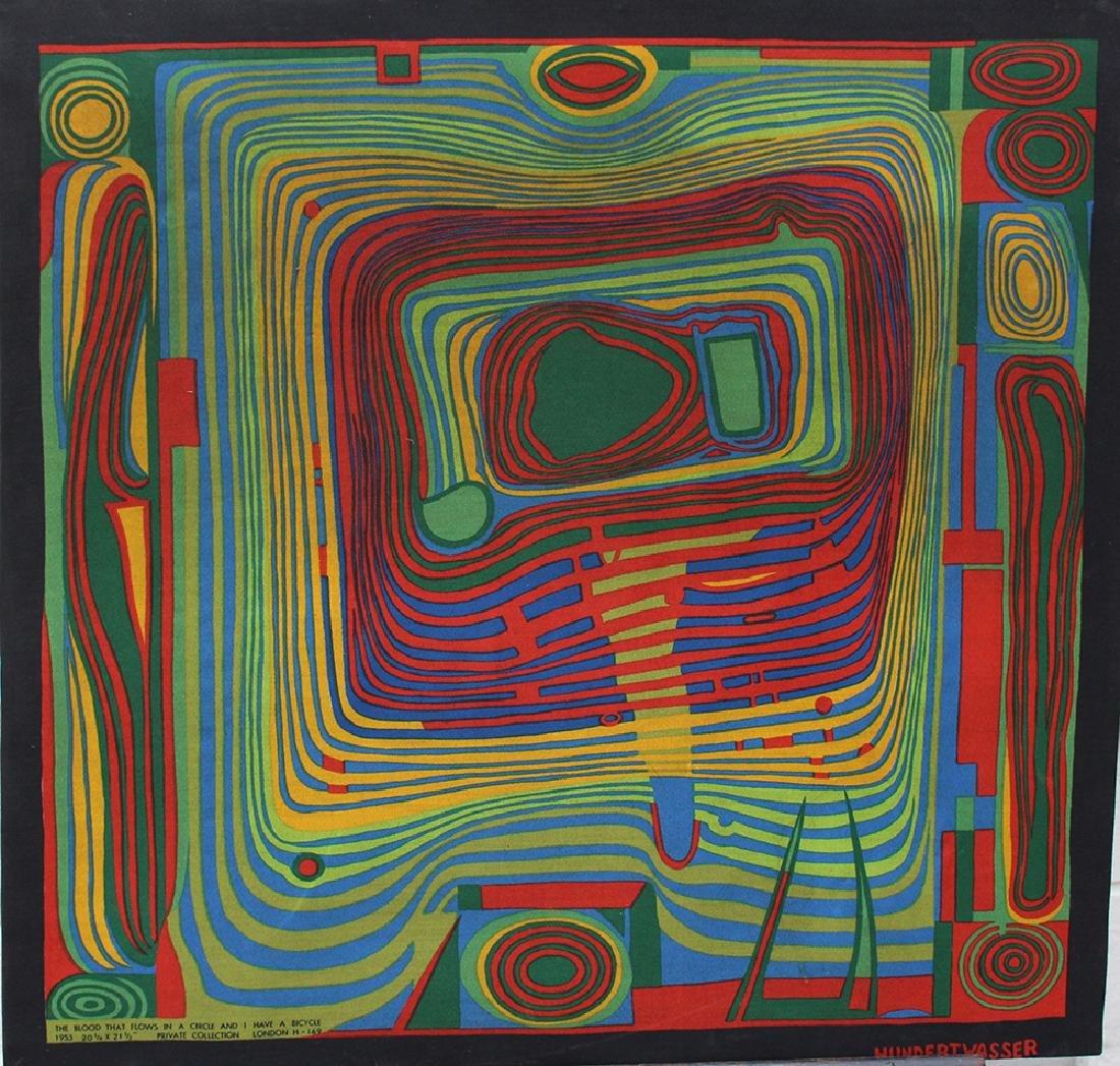 Friedensreich Hundertwasser (1928-2000)-after, Textile
