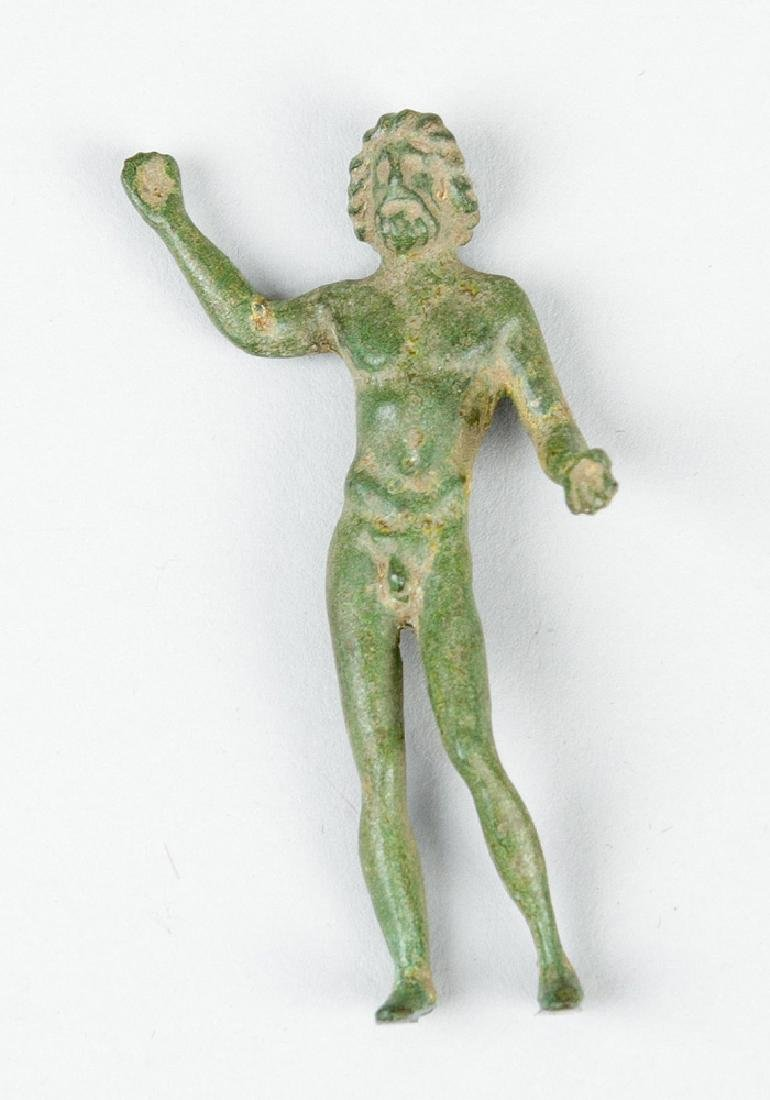 Bronze sculpture of a male godness in ancient manner