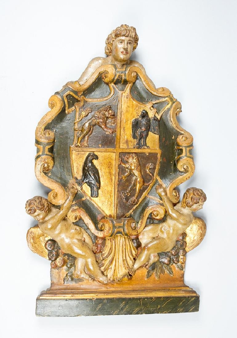 Italian Renaissance coat of arms of  the Conte di