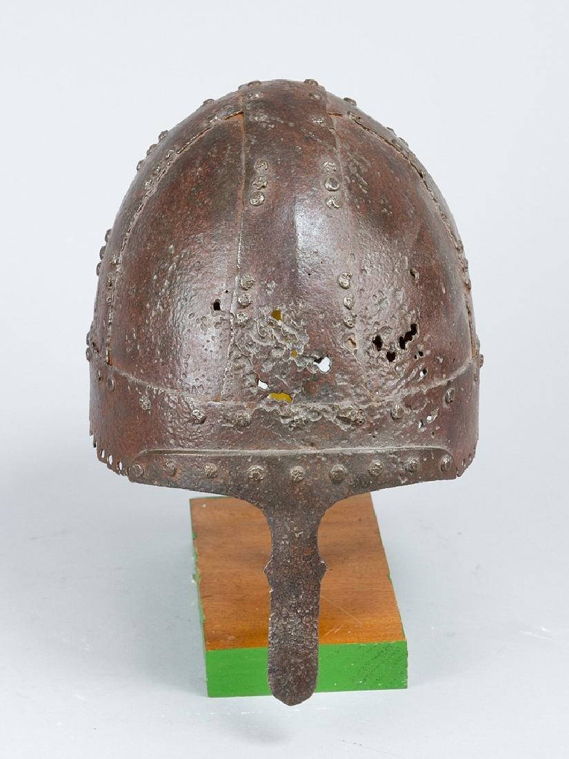A early iron helmet
