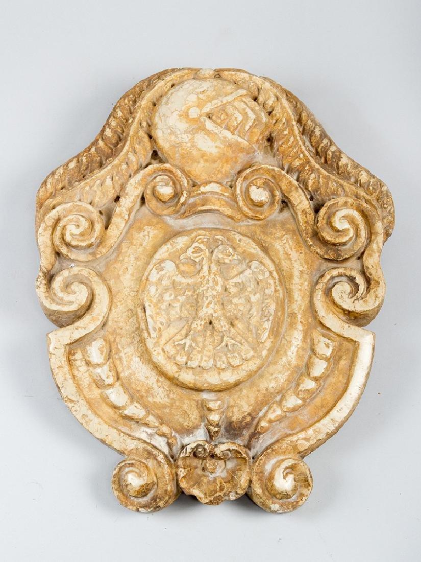 Stone coat of armes