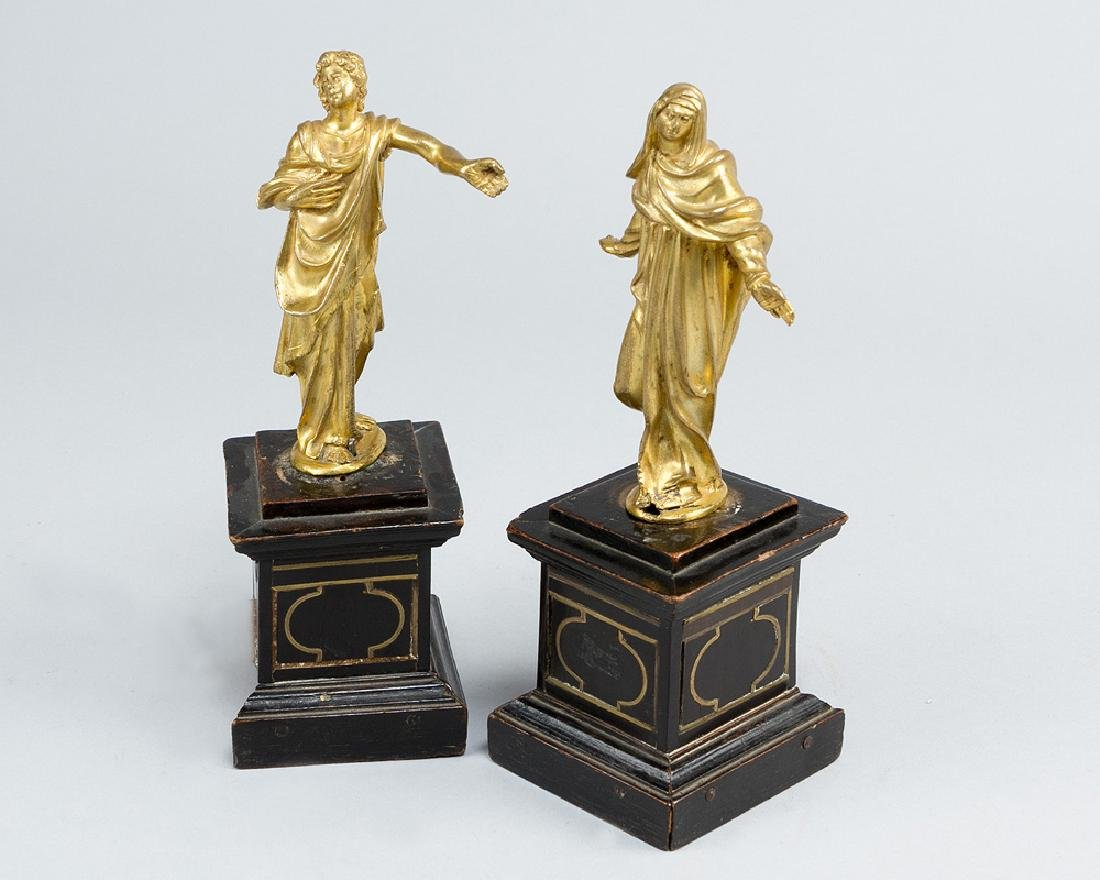 A pair of manieristic bronze sculptures