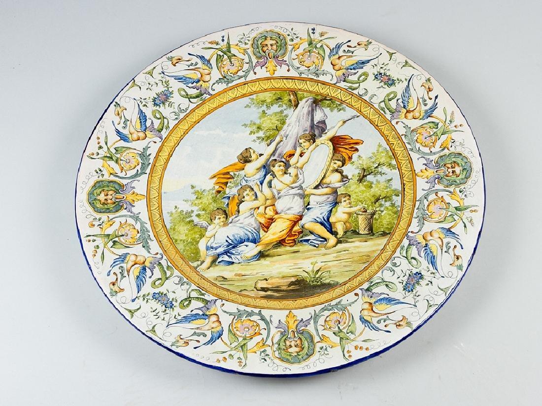 Large Italian Ceramic Plate