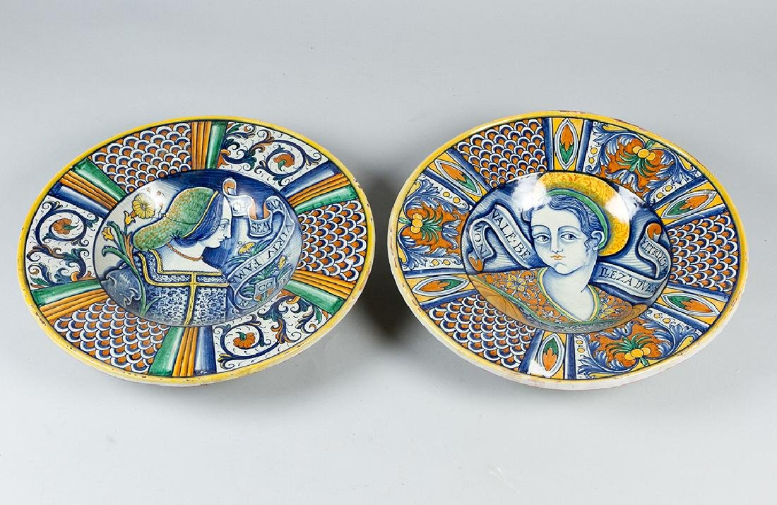 A pair of Deruta Ceramic Plates