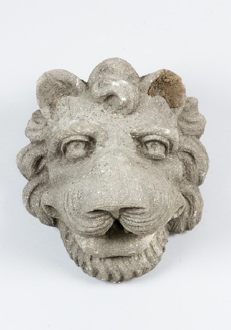 Stone Head of a Lion