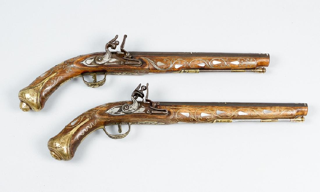 Pair of oriental pistols