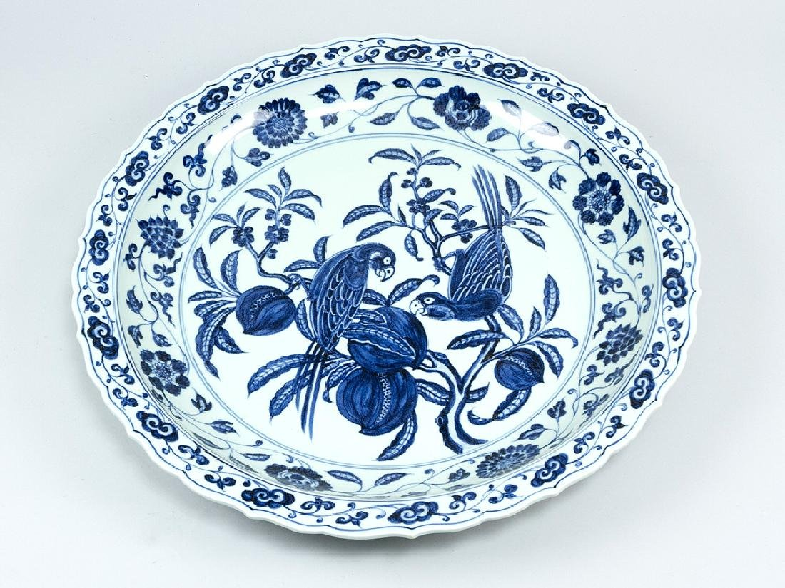 Chinese porcelain bird plate