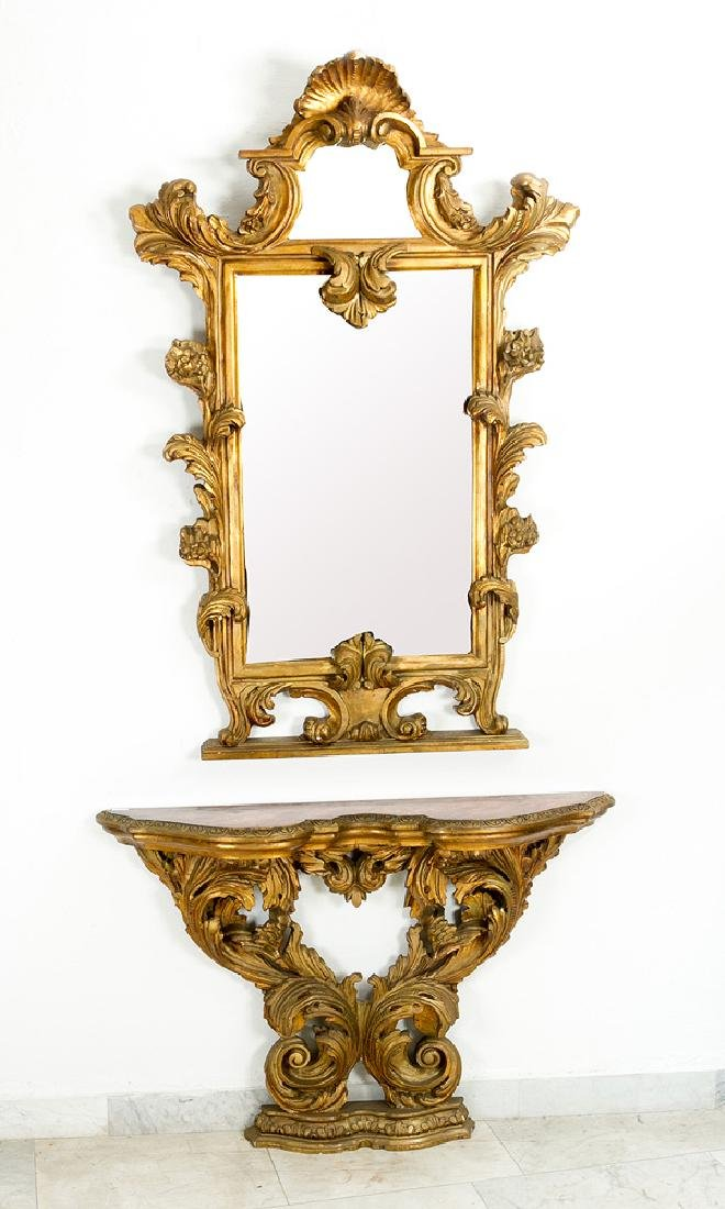 Florentine Mirror and Console