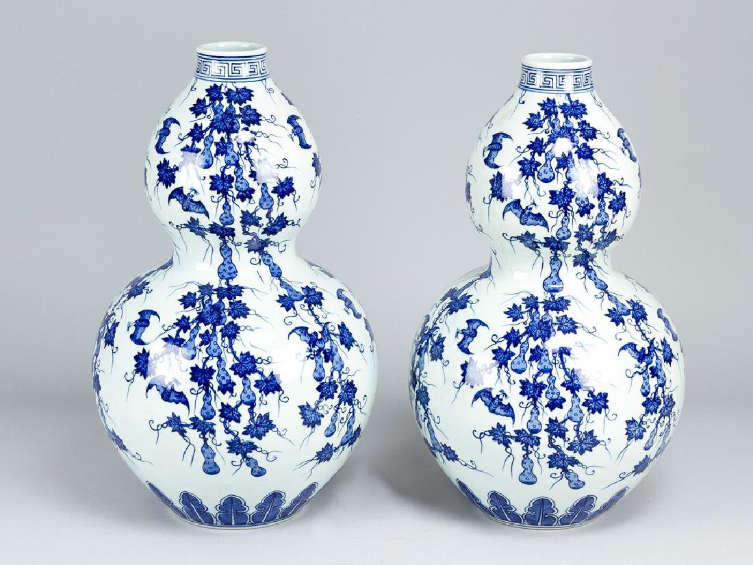 Pair of chinese pumkin Vases