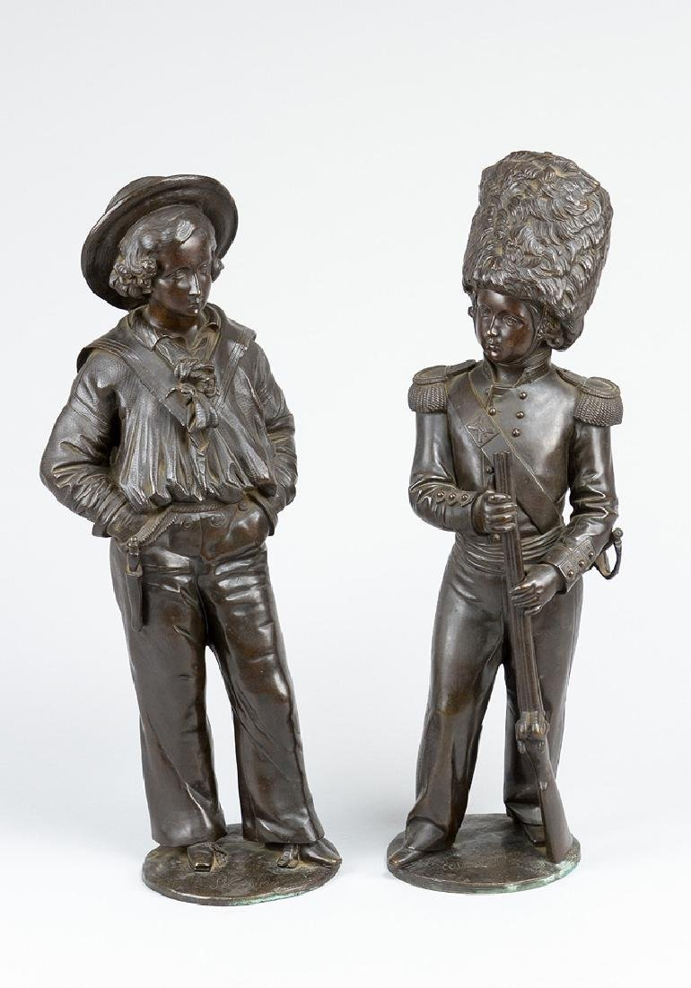 Pair of English Bronze Sculptures