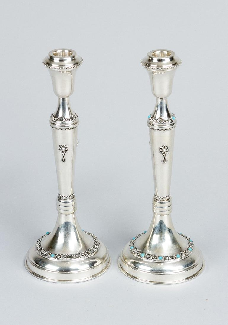 Judaica Pair of Israeli Candlesticks