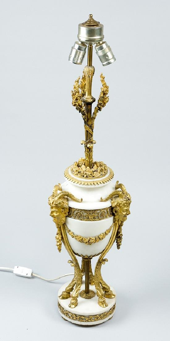 A French Classical Marble Vase Lamp