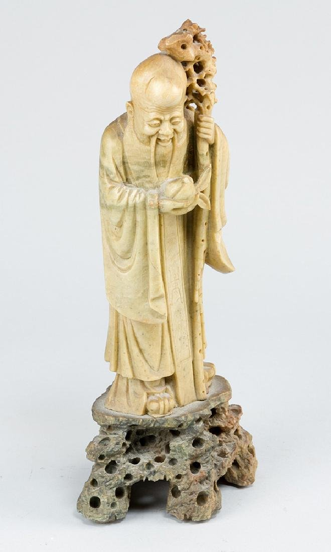Chinese Jade Monk Sculpture