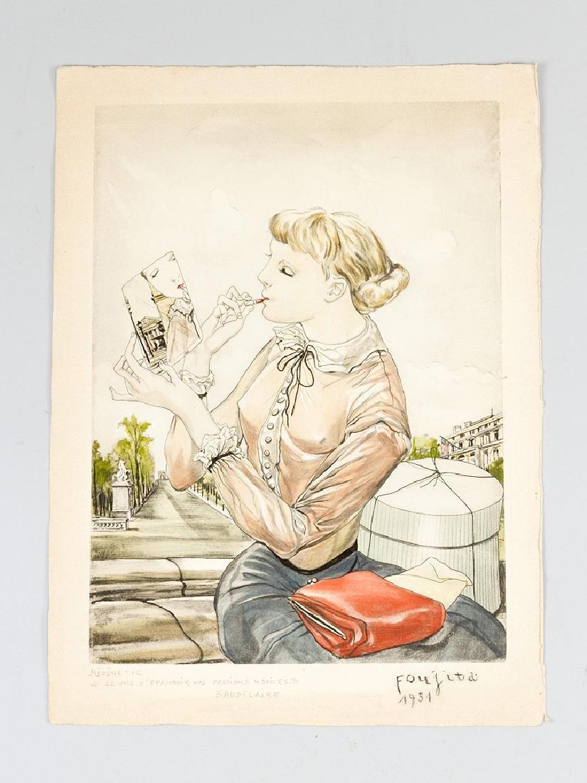Tsugouharu Foujita (1886-1968)-graphic