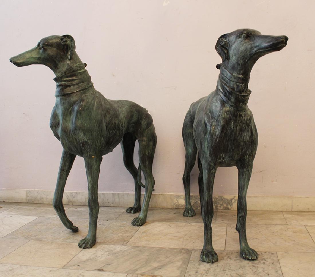 Pair of Lifesize Greyhound Sculptures