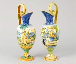 Pair of Urbino Jugs