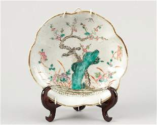 Chinese familie Rose porcelain tazza