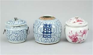 Lot of three ingwer pots