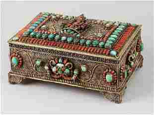 Tibetian Jewellery Casket
