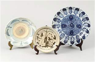 Lot of three Asian Porcelain Dishes