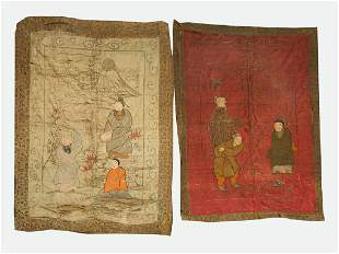 Lot of Two Chinese Embroideries