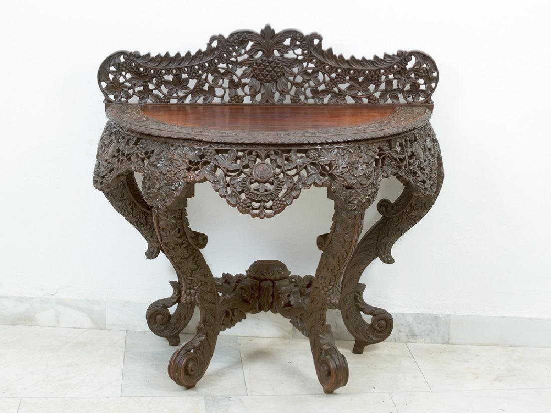 Anglo Indian Colonial Console Table