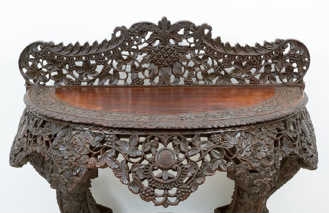 Anglo Indian Colonial Console Table - 2