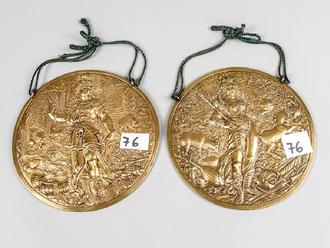 Pair of Mannerist Bronze Plaques
