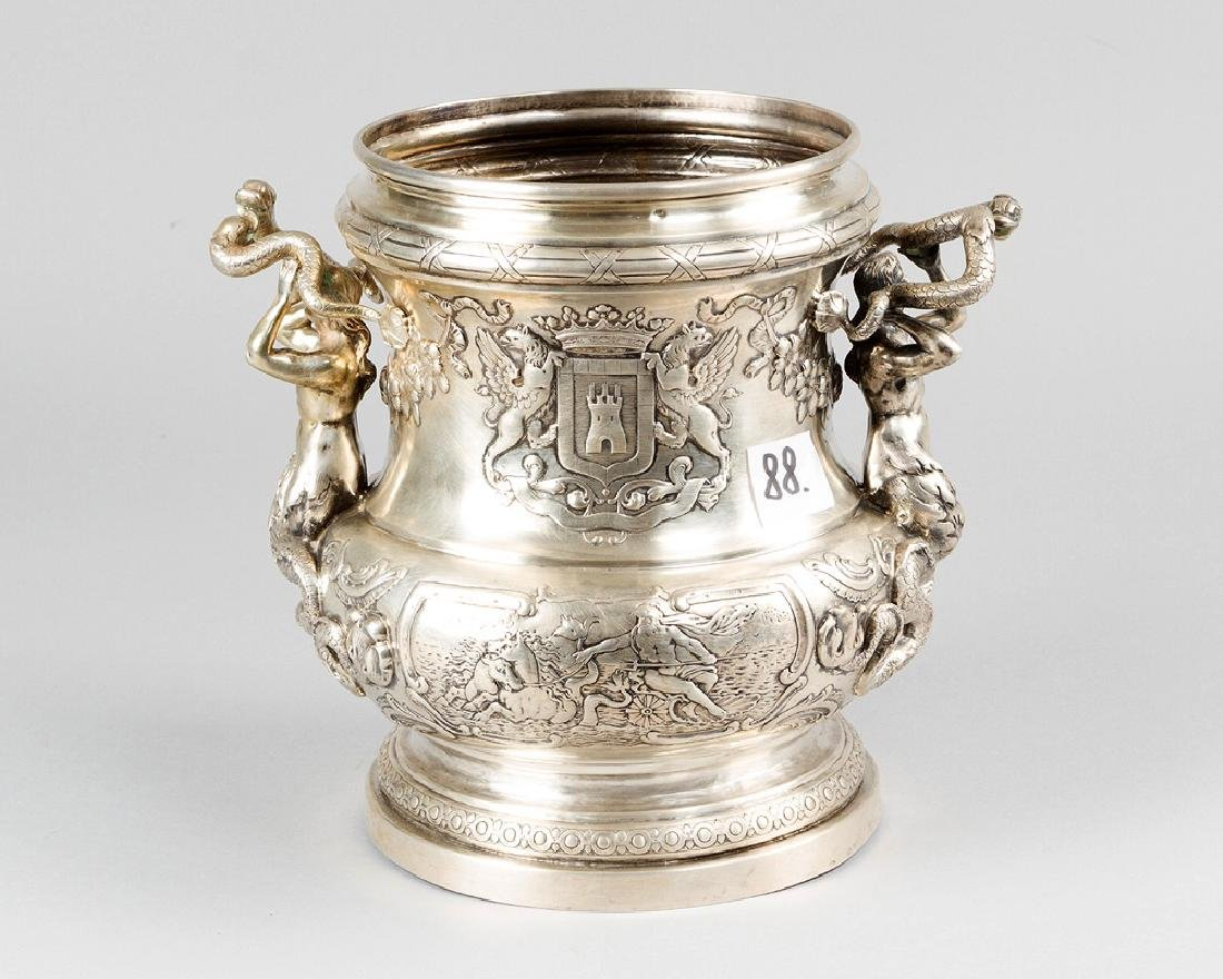 French Silver Wine Cooler