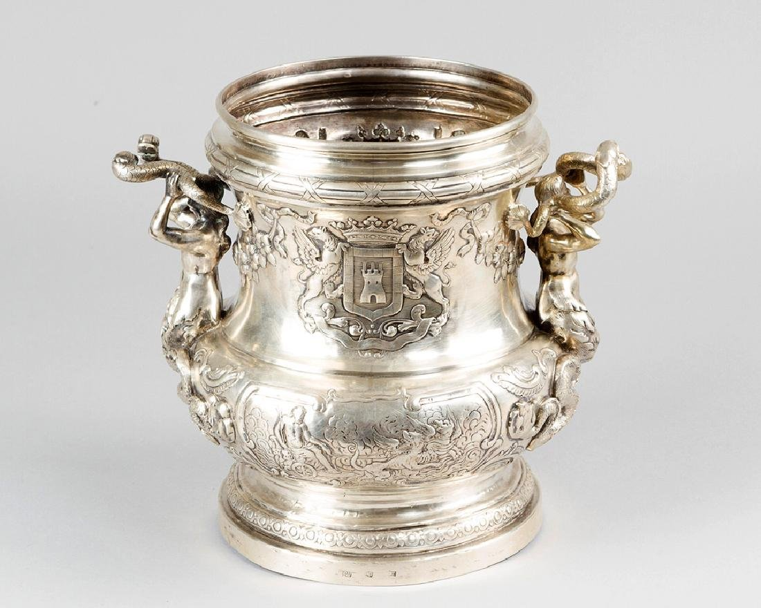 French Silver Wine Cooler - 2