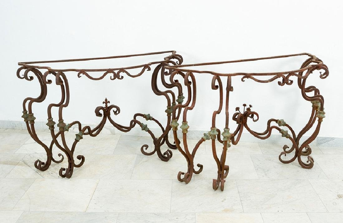 Pair of Lombard Iron Consoles - 2